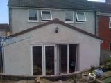 Rear extension to same house